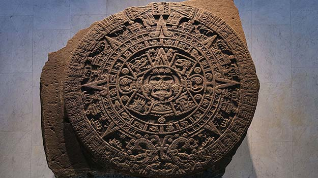 Aztec Stone of the Sun – the exact purpose and meaning of the stone is unclear 14th-16th century