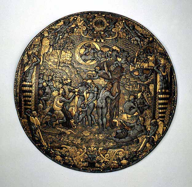 Parade shield made by Leone Leoni, Italian sculptor in XVIth century