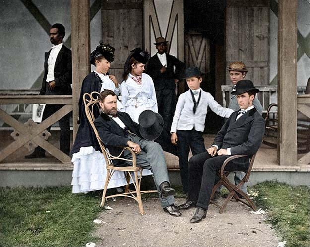 President Ulysses S. Grant & Family at their Long Branch, N.J. vacation house, 1870