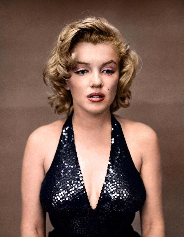 Marilyn Monroe photographed by Richard Avedon in 1957 without her 'signature smile'
