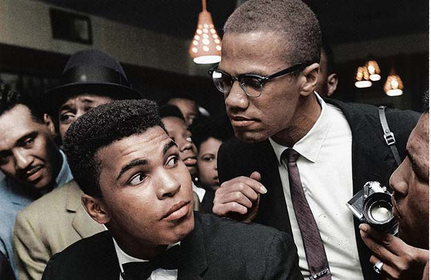 Malcolm X chats with Muhammad Ali – New York 1963