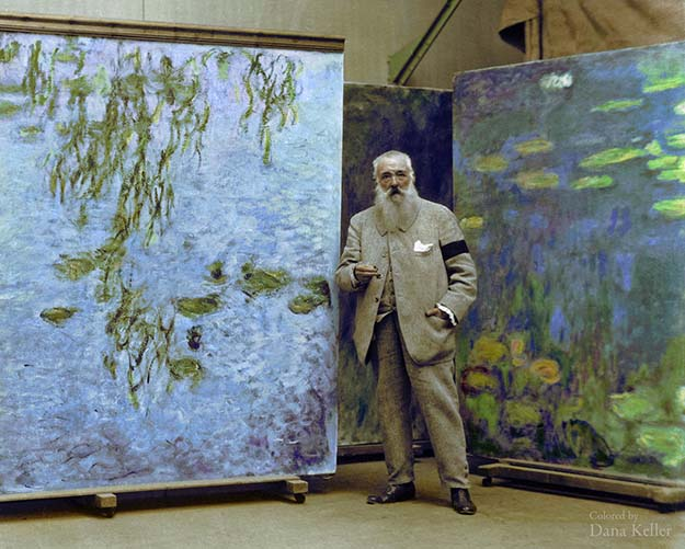 Claude Monet, French Impressionist painter, ca. 1923