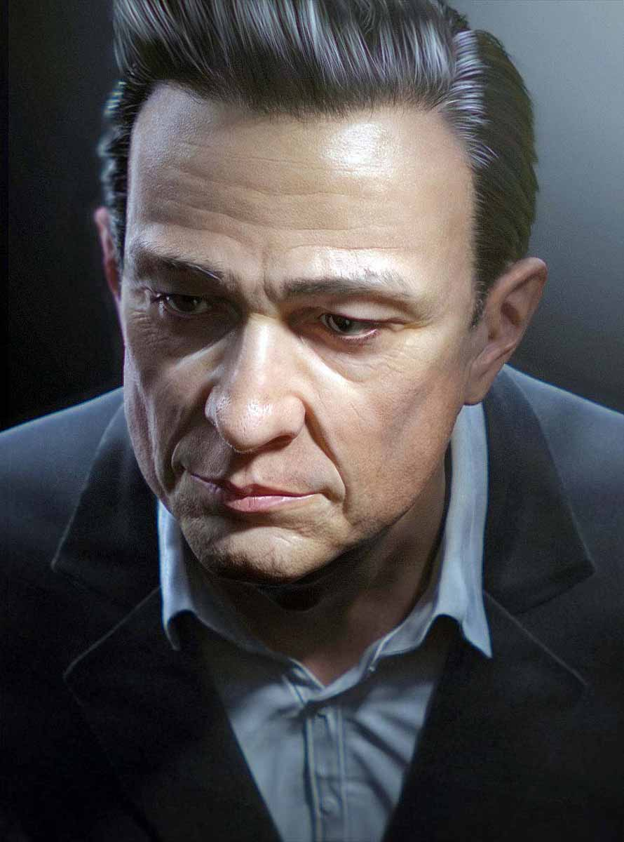 JOHNNY CASH by Bruno Jiménez