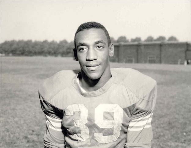 Bill Cosby when he played fullback in college for the Temple Owls