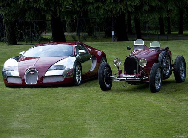 Luxury car, then and now