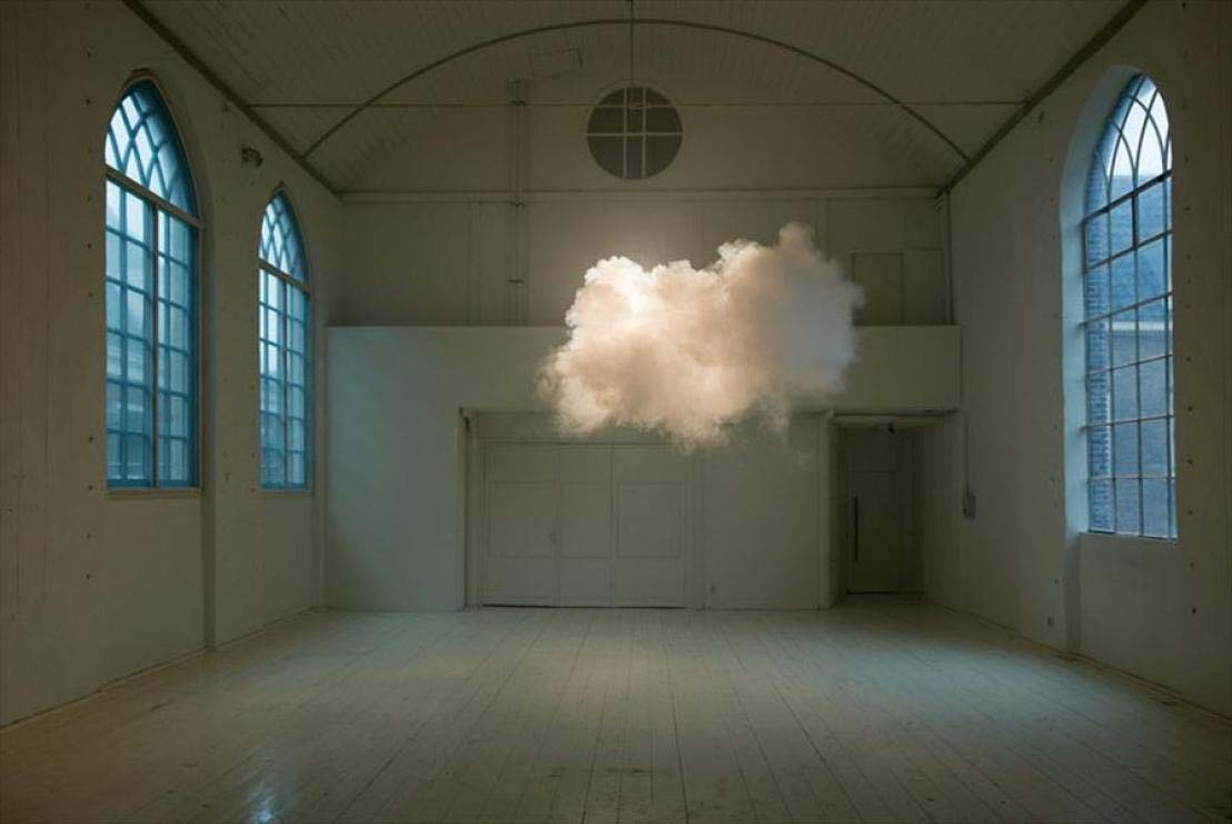 A cloud that formed indoors