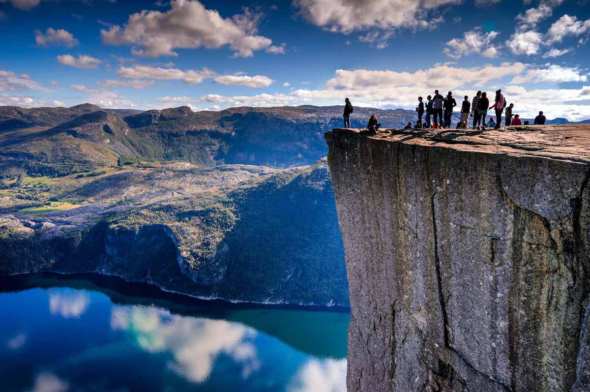 Edge of Preikestolen, Forsand, Norway