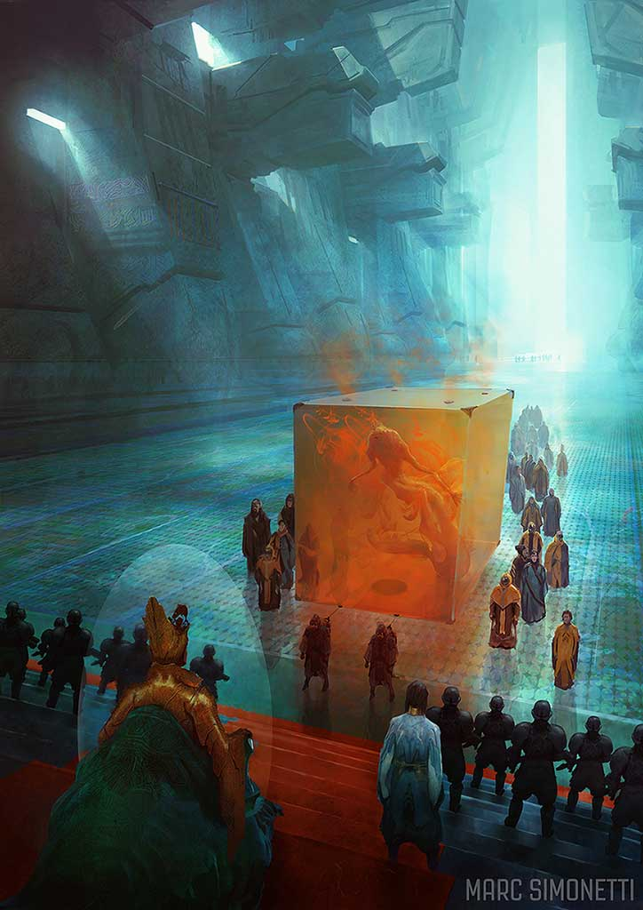 """""""The emperor and the guild"""" Interior illustration for """"Dune Messiah"""" by Frank Herbert for Centipede Press"""
