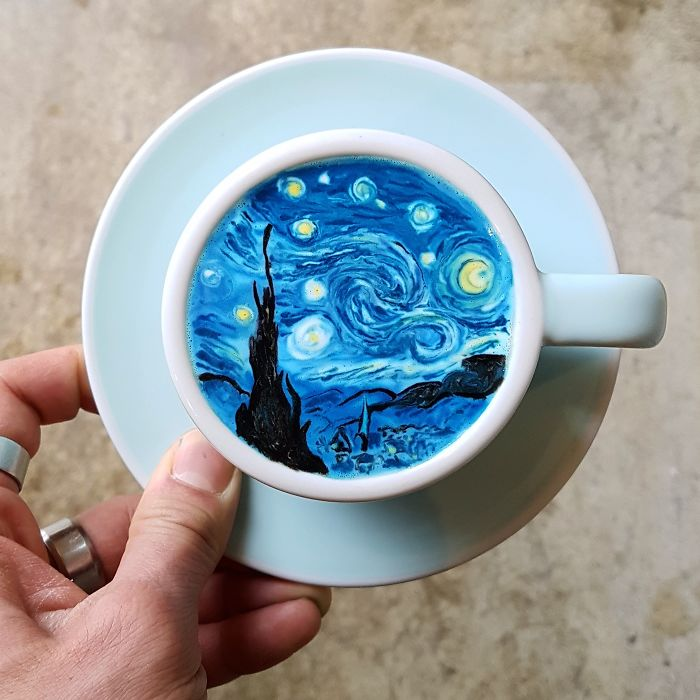 Barista From Korea Who Creates Art On Coffee