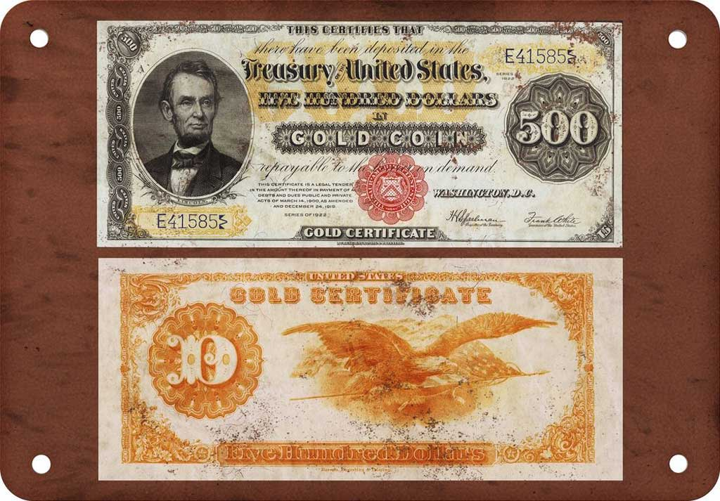 1882 $500 gold certificate: $2.4 Million